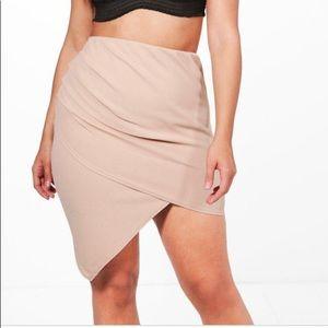 Boohoo Skirt Plus Kelly Wrap Front Mini Skirt 16
